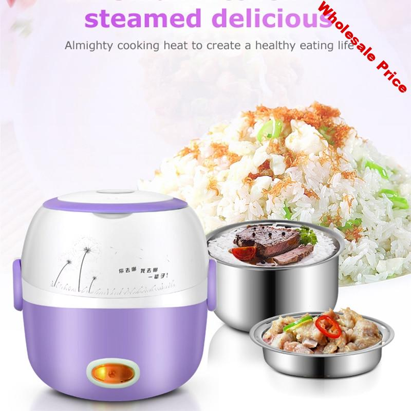220V Mini Rice Cooker Electric Cooking Machine Single/Double Layer Available Hot Pot Multi Electric Rice Cooker EU Plug