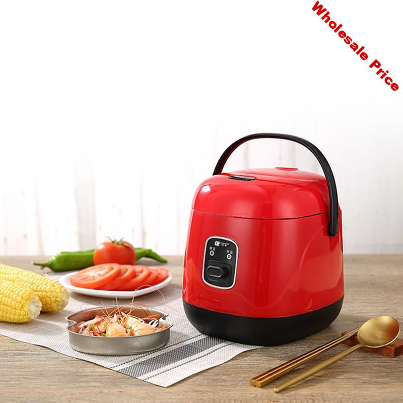 1.2L Mini Rice Cooker Multi-function Single Electric Rice Cooker Non-Stick Household Small Cooking Machine Make Porriage Soup