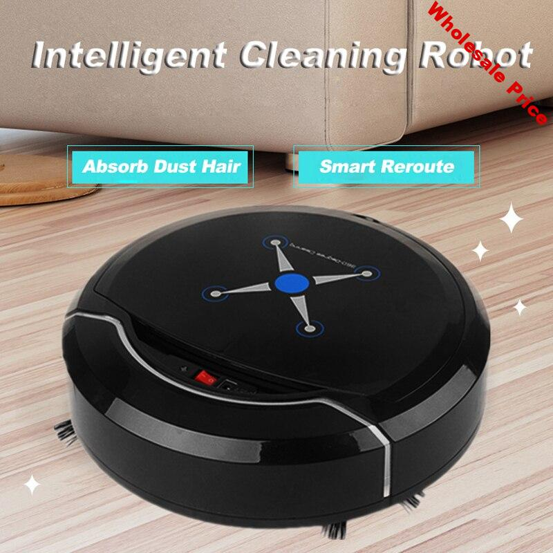 Automatic Intelligent Vacuum Cleaner Floor Cleaning Robot Home High Quality USB Charging Dirt Dust Hair Automatic Vacuum Cleaner
