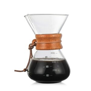 1000ML Hand  Coffee Maker High Temperatures Glass Coffee Maker Coffee Pot Espresso Machine With Stainless Steel