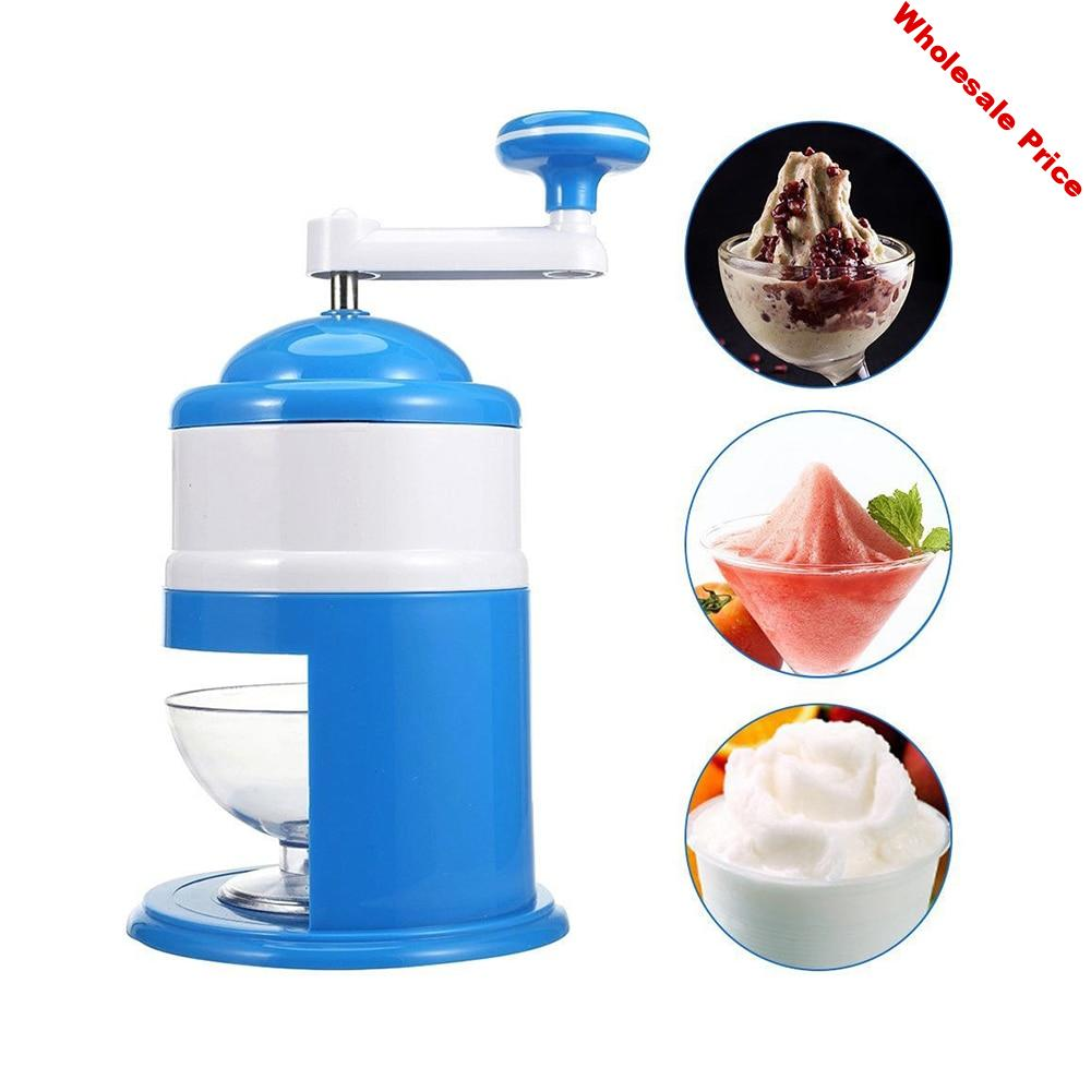 New Stainless Steel Household Handhold Manual Ice Crusher Hand Shaved Ice Machine For Shaved Ice Snow Cones Slushies