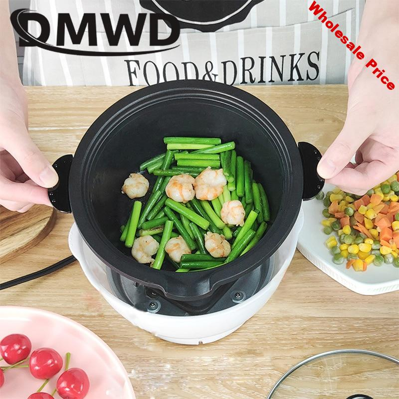 DMWD Electric Hotpot Removable Non-stick Meal Cooking Pan Frying Grill Heating Skillet Soup Pot Noodles Rice Cooker Food Steamer