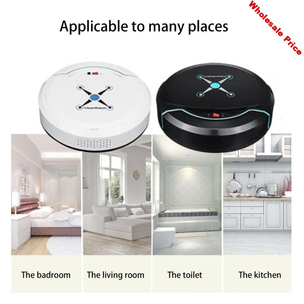 Rechargeable Auto Cleaning Robot Automatic Smart Sweeping Robot Vacuum Floor Dirt Dust Hair Cleaner Home Sweeping Machine