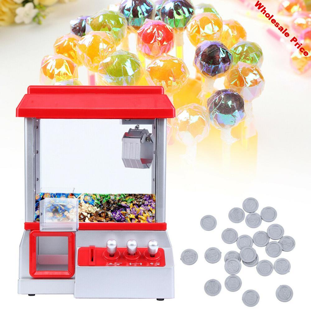 Yonntech Electronic Claw Game Toy Grab Win Candy Gum and Small Toys Put in the Coins Candy Music Arcade Gift