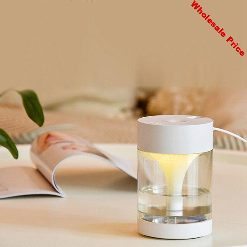 450Ml USB Diffuser Aroma Essential Oil Humidifier Ultrasonic Diffuser 7 Color Change LED Night Light Cool Mist for Home