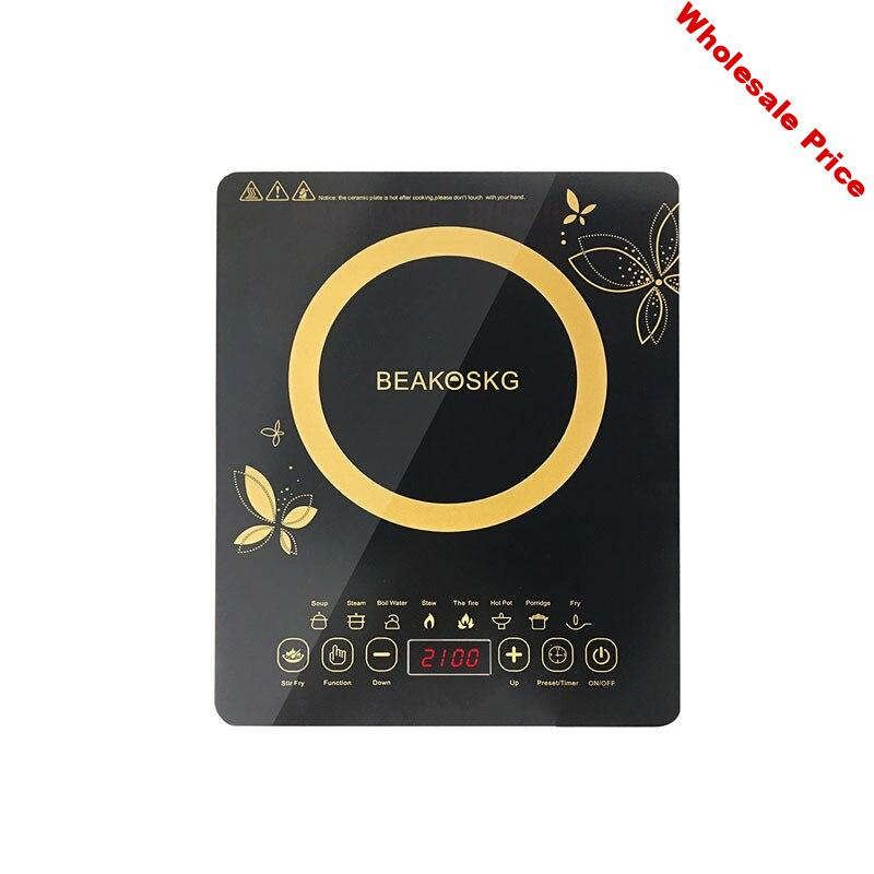 2100W High Power Induction Cooker Home Energy-saving Intelligent Micro-computer Touch Induction Cooker Special Mini Hot Pot