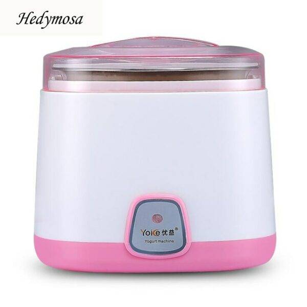 Hedymosa Yogurt Makers Automatic Natto Manufacture Multi-Function Household Stainless Steel Liner 1L 15W 220V 50Hz L