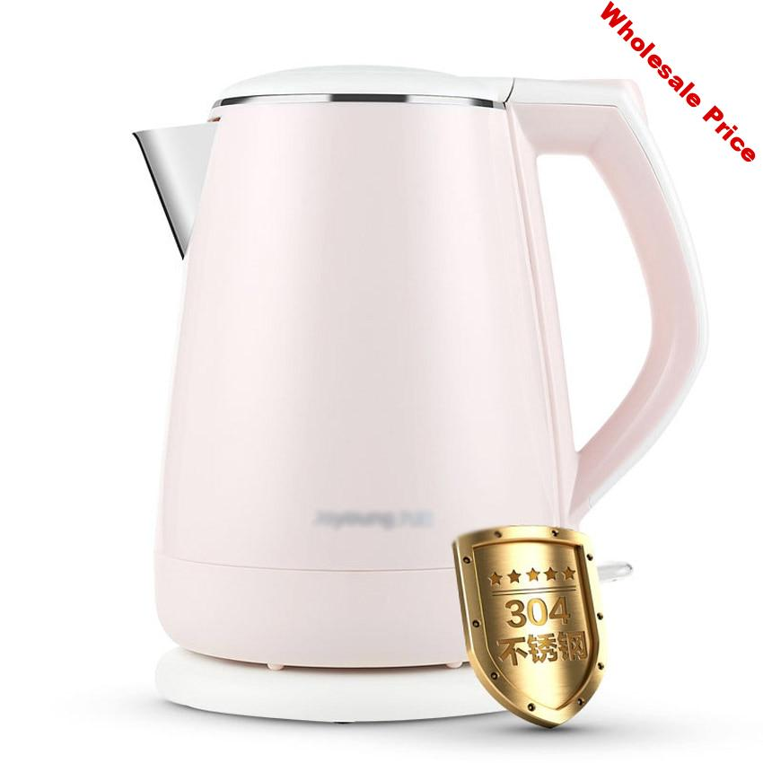 1.5L capacity Electric Kettles Food grade Stainless Steel Heat Preservation And-Anti burning Electric Kettle Pink K15-F623 220V