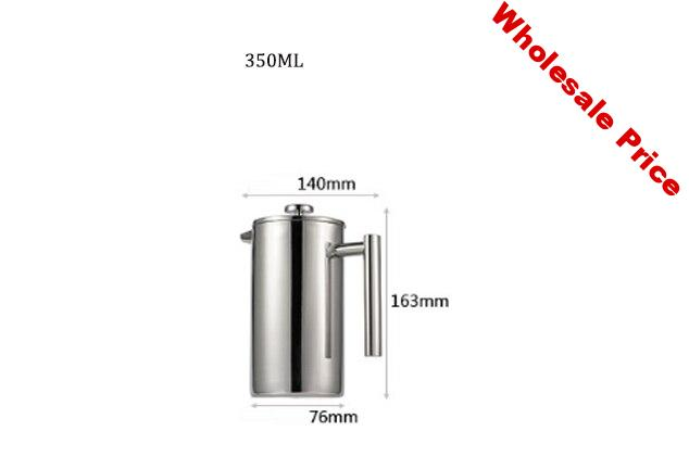 Tea make Device French Press 304 Stainless Steel Coffee maker 180DHigh temperature Kitchen tool Tea making utensils