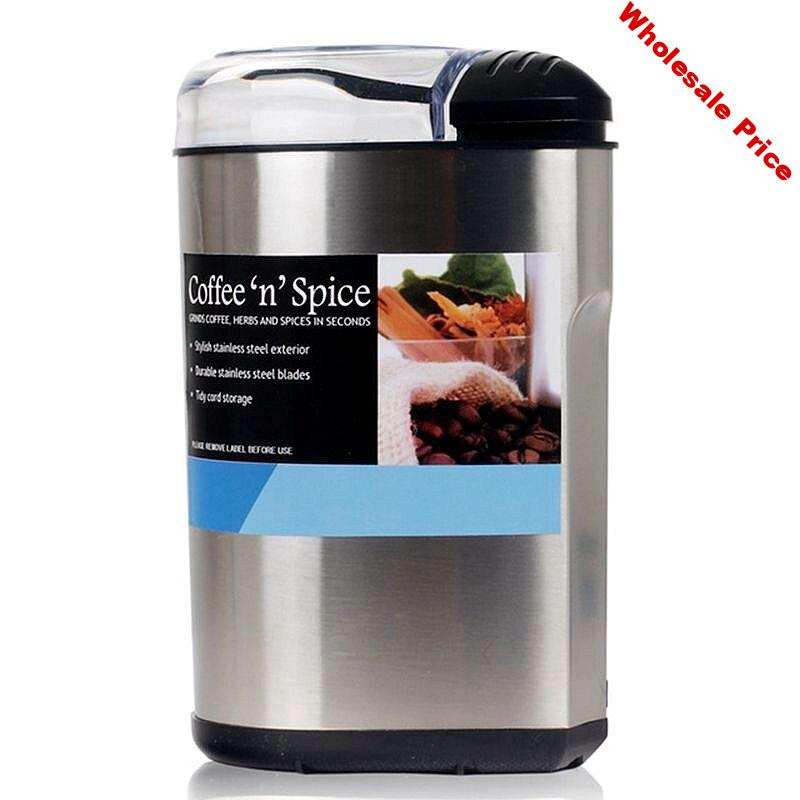 Coffee bean grinder Stainless steel commercial grinder Household electric Italian small crusher grinding machine