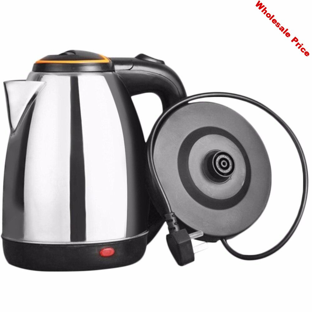 2L Stainless Steel Electric kettle Energy-efficient Anti-dry Waterkoker Protection Heating underpan Automatic Cut Off Jug Kettle