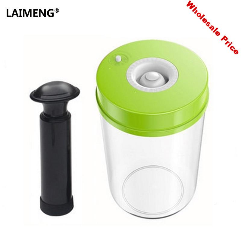 LAIMENG High Quality Plastic Vacuum Sealer Canister Large Capacity 2200ml Vacuum Container For Marinating S170