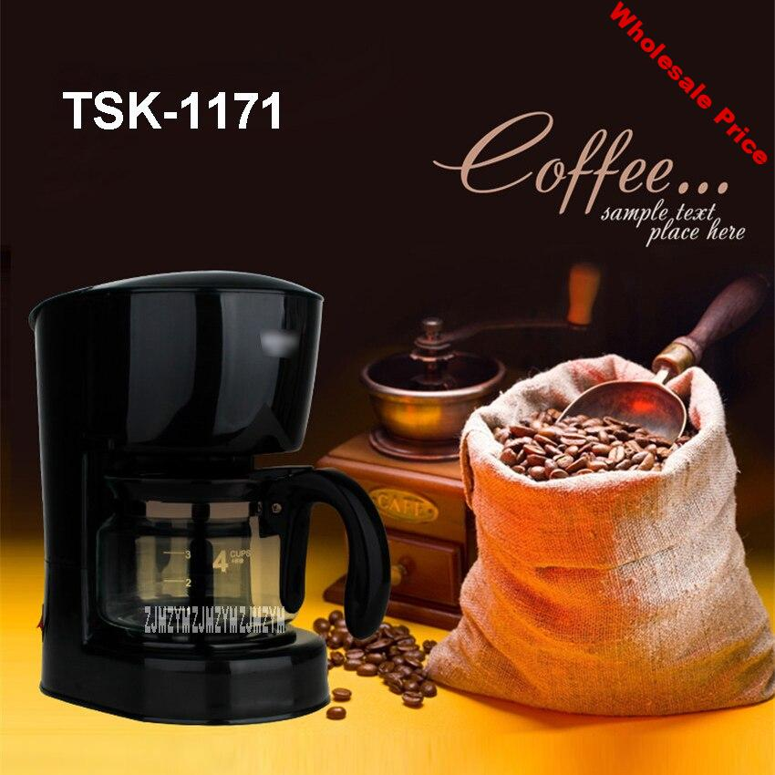 220V/50Hz Fully Automatic Coffee Machine  Cups Coffee Machine for American Coffee Machines food grade PP material TSK-1171 0.6L