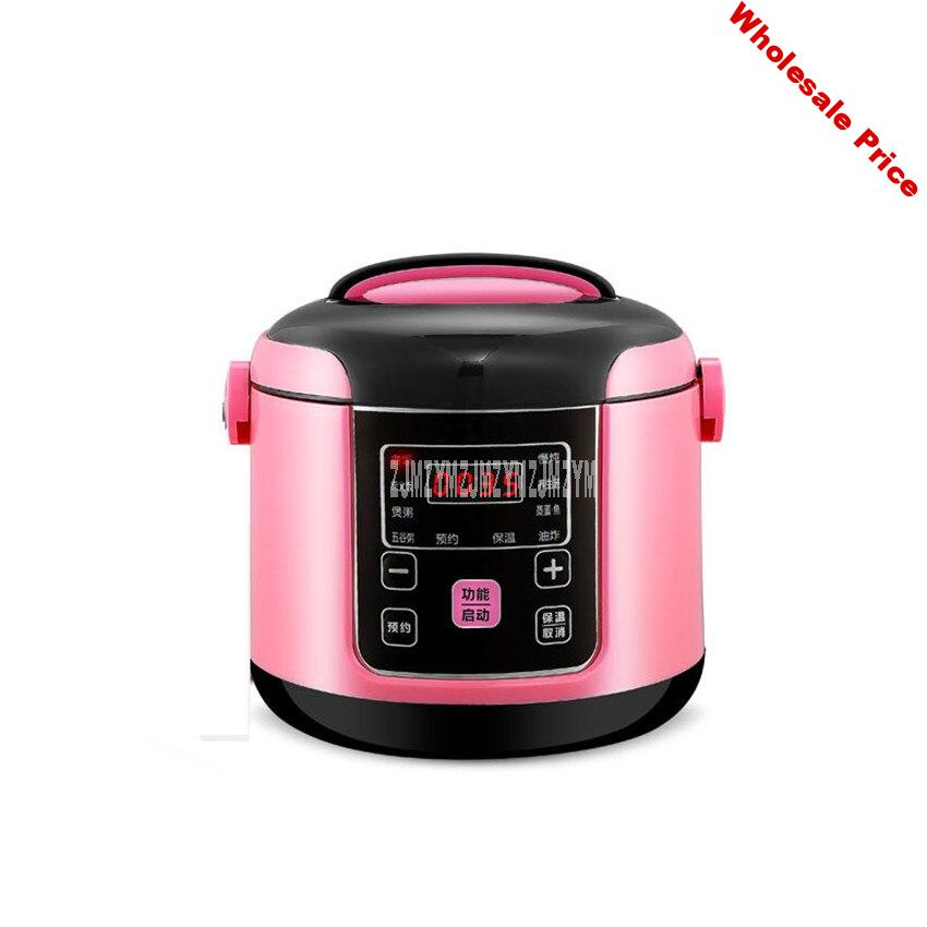 2L Mini Intelligent Electric Rice Cooker Non-stick Inner Tank 2-4 Person Household Soup Congee Rice Cooking Machine 220V Y-MFB6