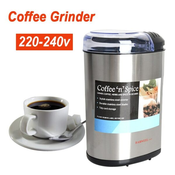 Coffee bean grinder Stainless steel commercial grinder Household electric Italian small crusher grinding machine 220-240v 200w