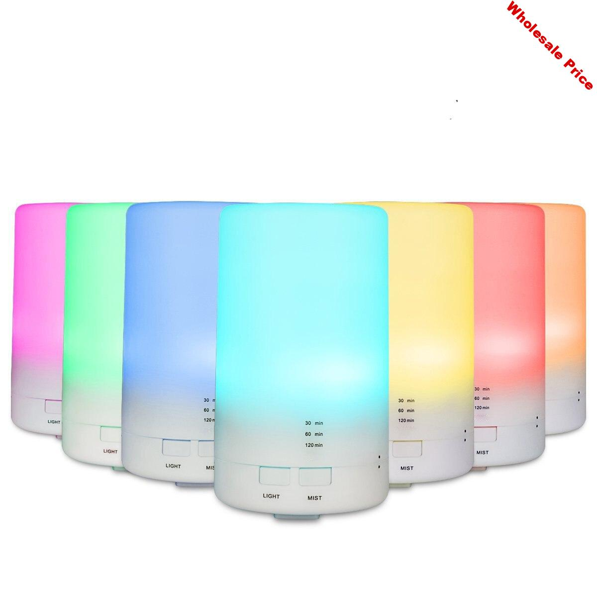 7 Color Changing LED Light Essential Oil Diffuser 100ML Mini Ultrasonic Cool Mist Air Humidifier for Car Aroma Mist Maker
