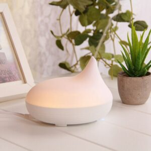 Air Humidifier Ultrasonic Aroma Diffuser Adjustable Mist Modes Home Essentials Oil Diffuser Mist Maker with LED Night Light B