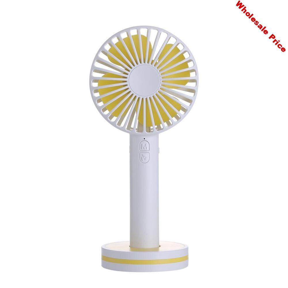 USB Powered Portable Convenient Fashion Desktop Mini Handheld Small Fan With Mirror Outdoor Charging Lanyard Fan