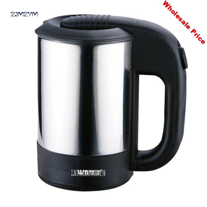 WST-0905 0.5L 110-220V Voltage All Countries Travel 0.5L stainless steel electric kettle electric cup mini portable travel 1000W