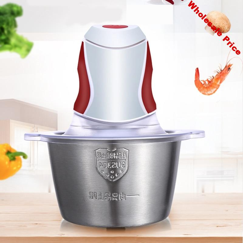 EAS-2L Electric Meat Grinder Mixer Chopper Household Machine 200W Stainless Steel Electric Meat Grinder Food Chopper Home 220V E