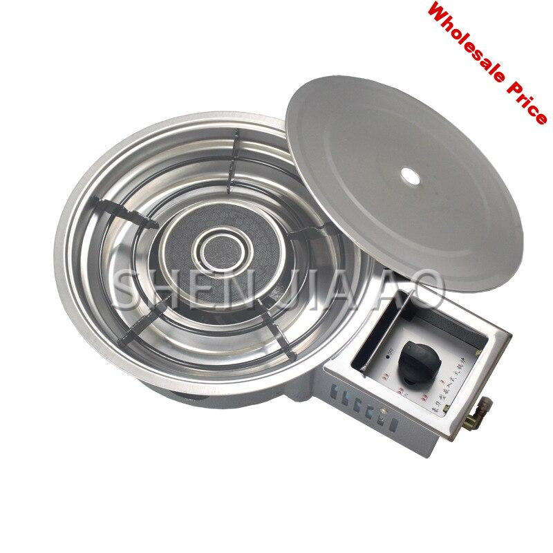 Energy-saving liquefied gas natural gas stove Korean high-power infrared commercial restaurant embedded hot pot  gas stove