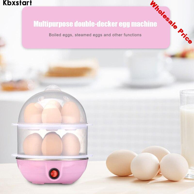 Kbxstart Multi Function Rapid Electric Egg Cooker 14 Eggs Capacity Fast Egg Boilers Steamed Kitchen Cooking Appliances Tools