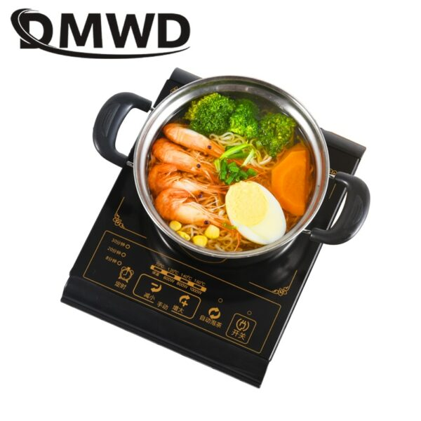 DMWD induction cooker multifunvtion electric stove furnace hot pot oven cooktop multicooker hot pot cooking noodle heating plate