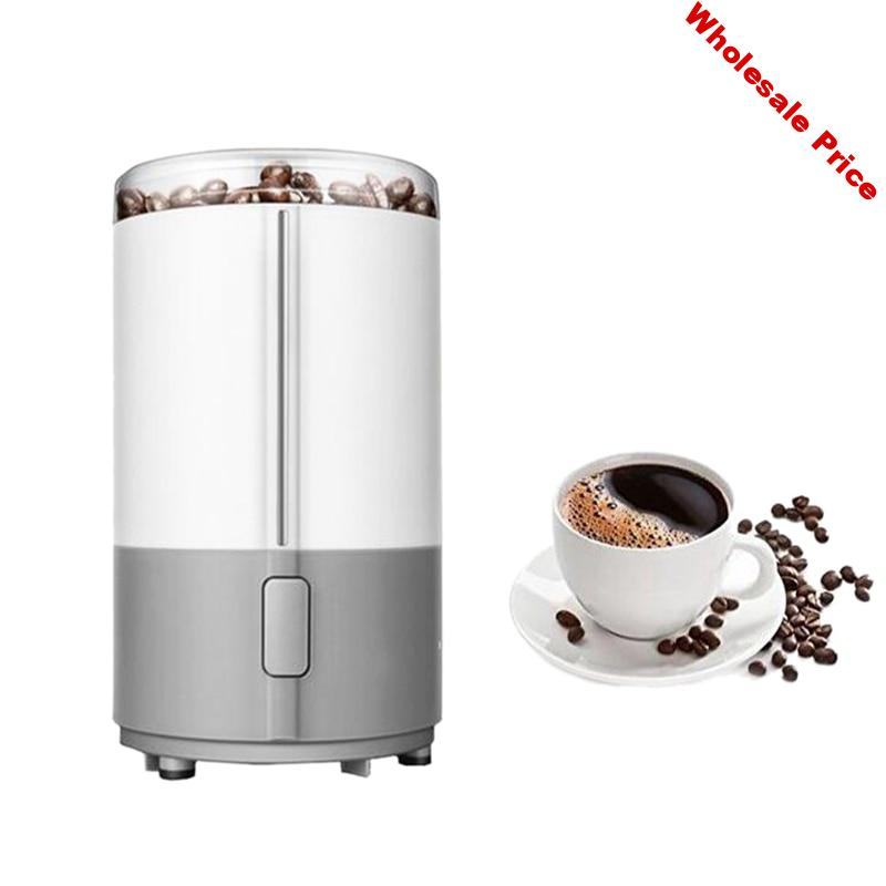 Hot TOD-Electric Coffee Grinder Spice Maker Stainless Steel Blades Coffee Beans Mill Herbs Nuts Cafe Home Kitchen Tool(EU Plug)