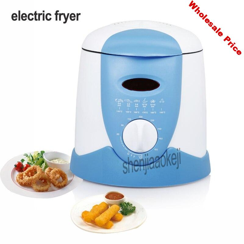 220V Smokeless multifunctional frying pan 0.9L Mini electric oil fryer oven French fries Grill Chicken Fried Fish Pot machine