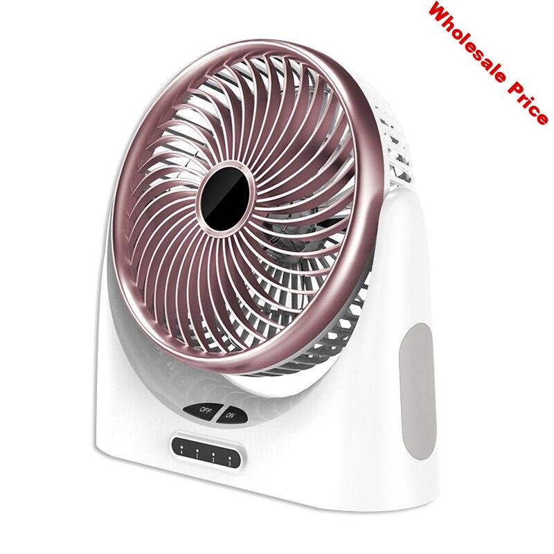 Hot TOD-Usb Desk Fan Small Personal Air Circulator Fan Portable Electric Table Desktop Fan Rechargeable Travel Fans For Camping