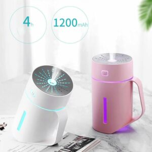 Ultrasonic Aromatherapy Diffusers Humidifier With 4 Hours Automatic Shut-off 7 Colors LED Moon Lights