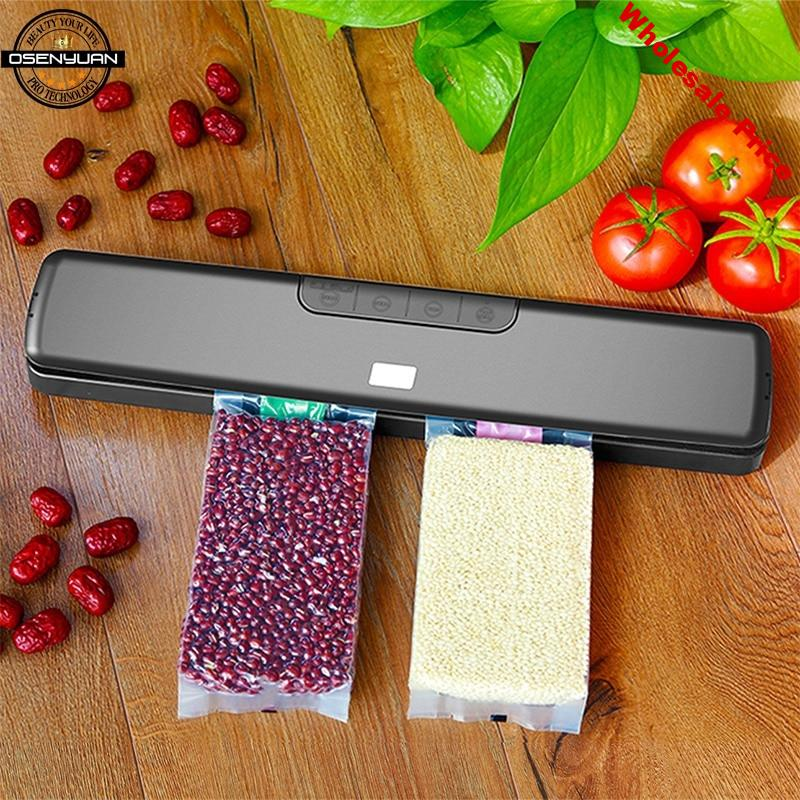 Hot 90-240V New Dry&wet Food Vacuum Sealer Machine For Food Saver With 20PCS Bags Home Electric Vacuum Sealer Packaging Machine