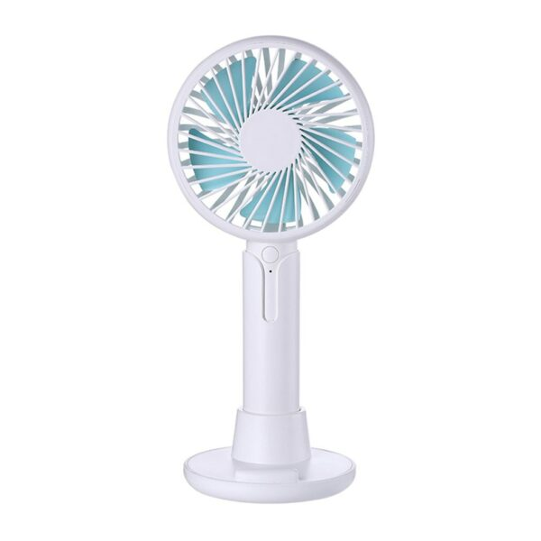 19323 Mini Cooling Fan Hand-held Fan Adjustable Air Cooler USB Rechargeable For Outdoor