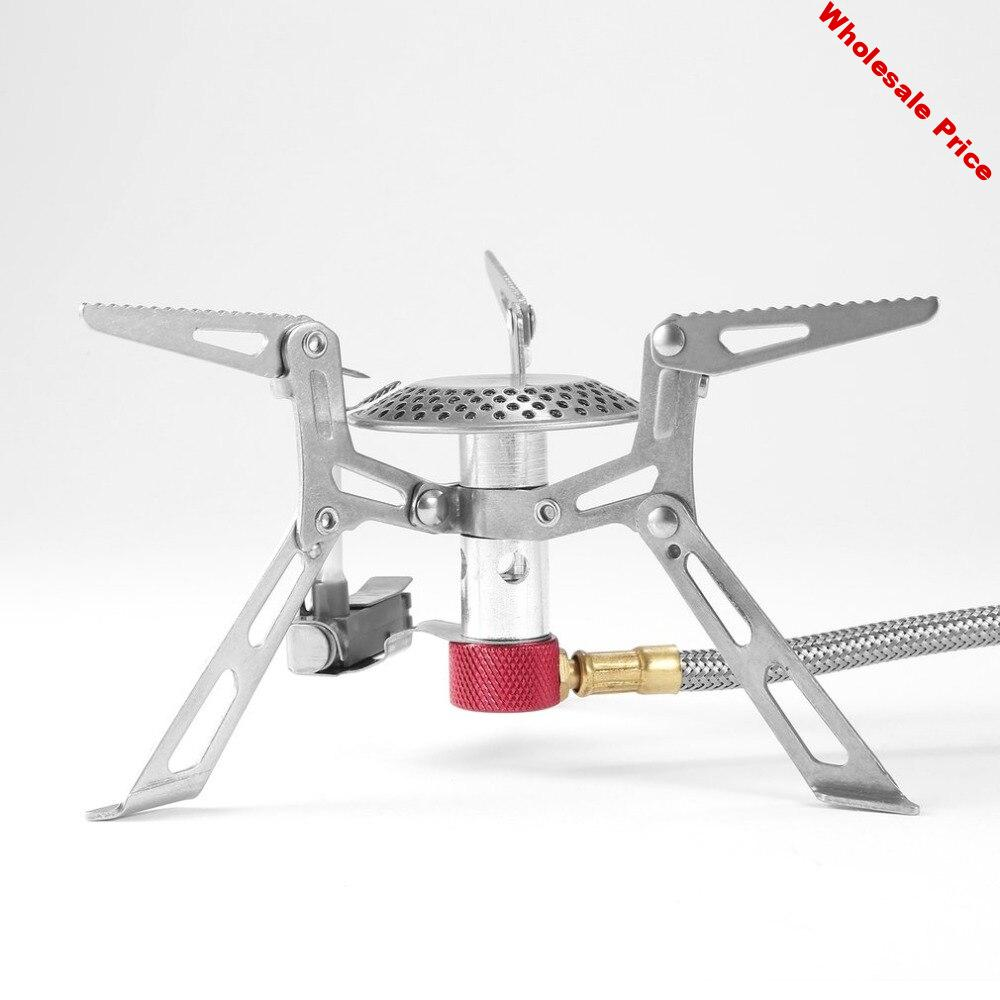 Mini Camping Stove Outdoor Gas Stove Burner Cooking Picnic Portable Foldable Lightweight Split Burner Stove With Ignition Device
