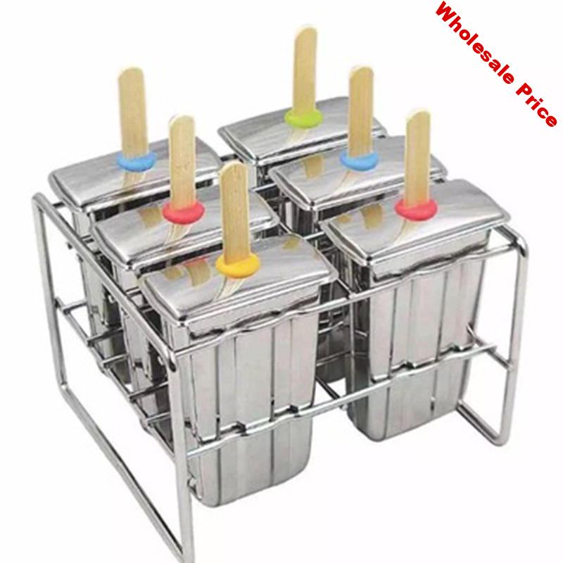 Stainless steel ice cream mold Household homemade popsicle mold DIY ice cream mold Making ice cream ice cream products