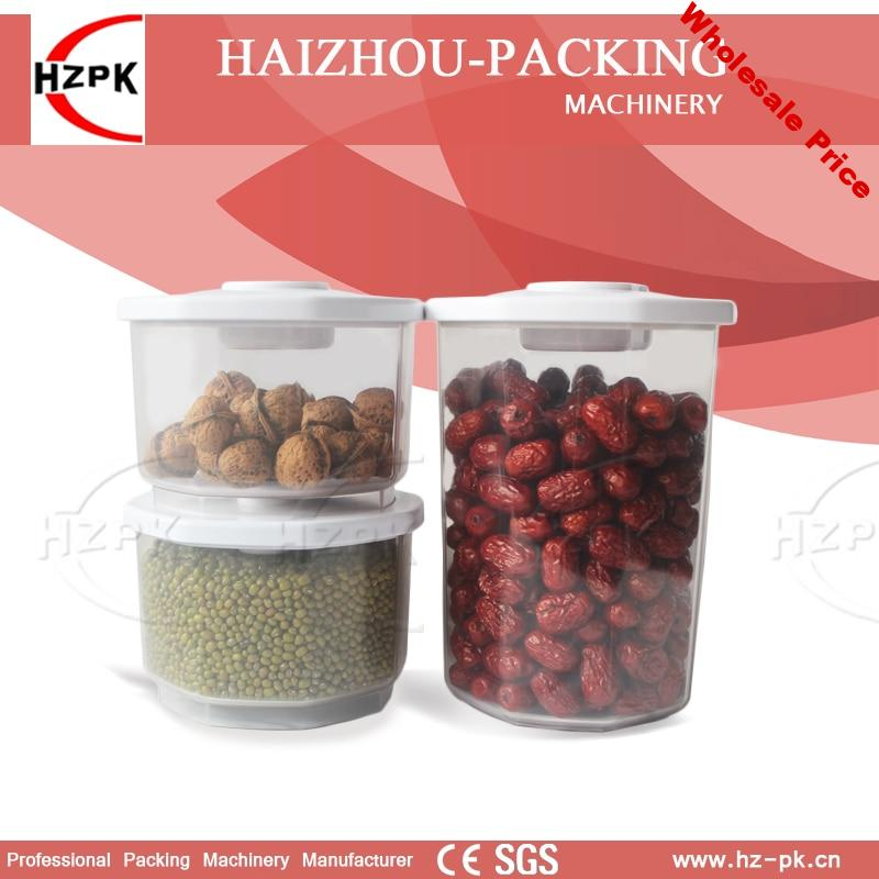 HZPK Vacuum Container With Vacuum Packing Machine For Food Save Food Preservative For Fresh-keeping Mark Time Lid Reuse Food Jar