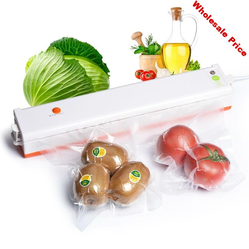 Free Shipping NewVacuum Sealer Vacuum Packing Machine 220V Household Sous Vide Food Sealer With 10Pcs Sealing Machine Packages