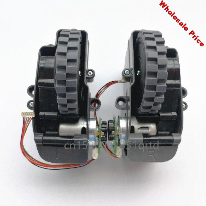 Robot Vacuum Cleaner Left Right Wheel Include Motors for Ilife V55 Pro V50 Pro bot Vacuum Cleaner Parts Wheel Engine Replacement