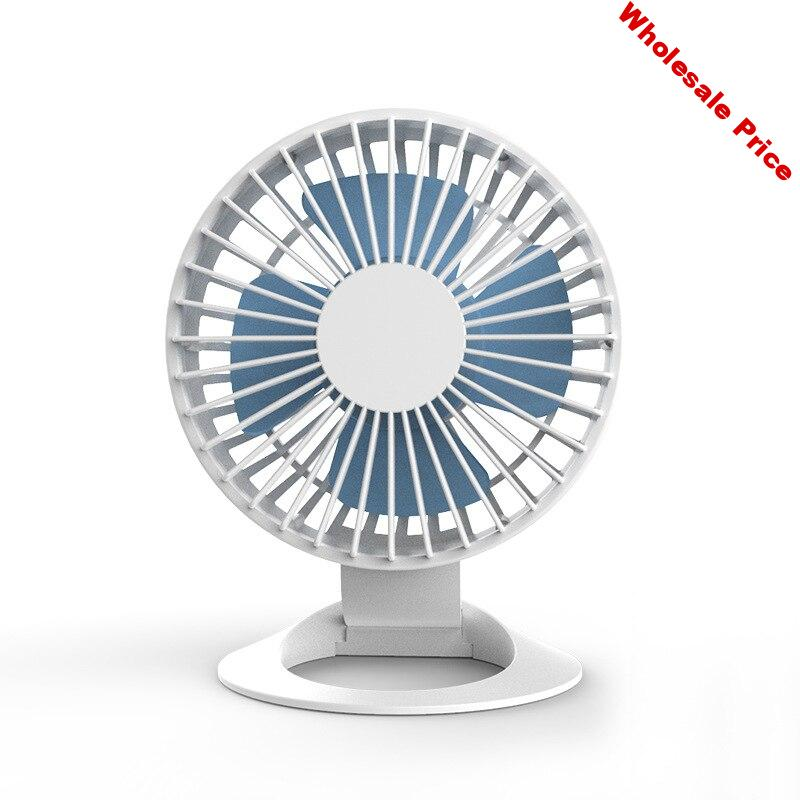 New Mini Desktop Small Fan USB Charging Portable Student Dormitory Air Conditioning Fan Three Gears Home Office Mute Cooling Fan