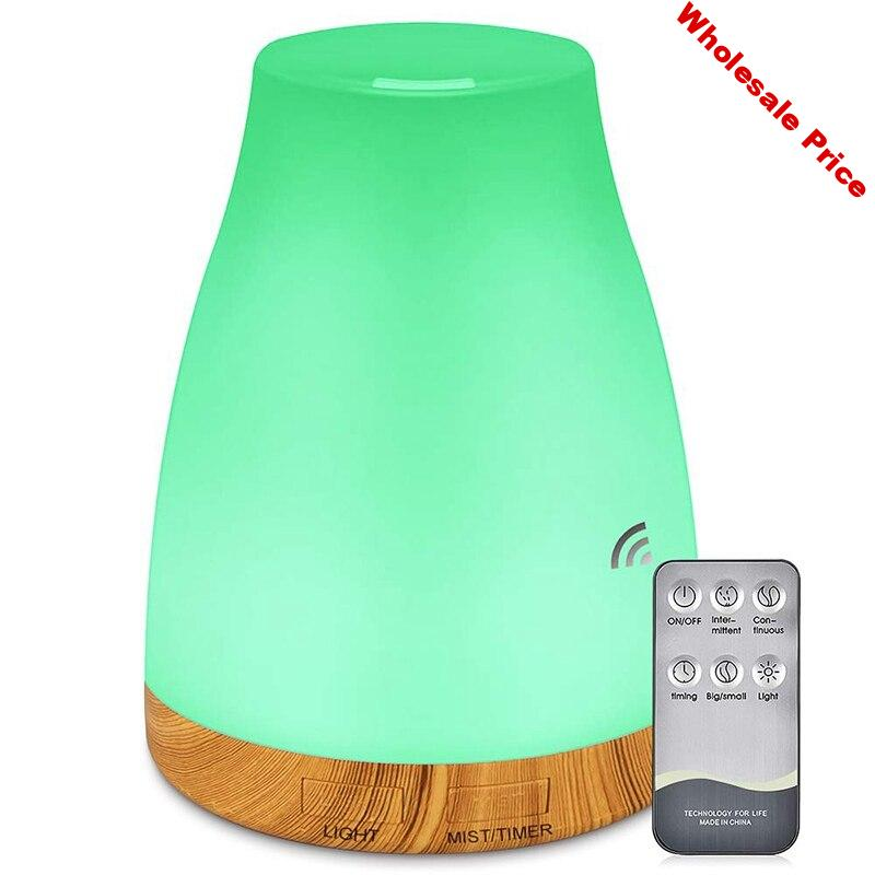 300ML Essential Oil Air Mist Diffuser with Adjustable Cool Mist Humidifier Mode Waterless Auto-Off 7 Color LED Lights Changing f
