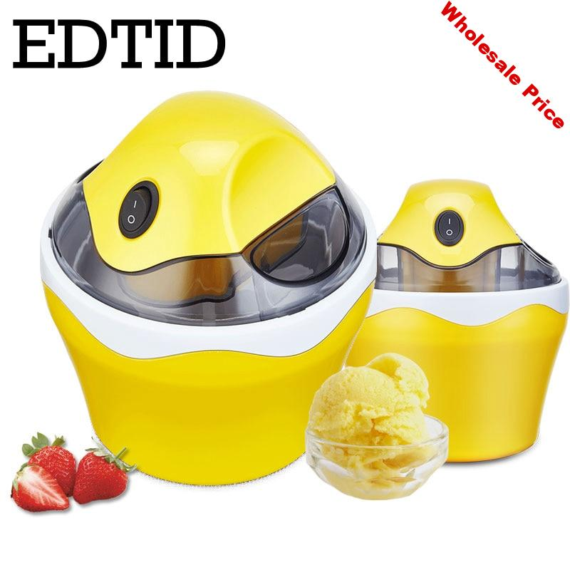EDTID Mini Ice Cream Maker Portable 500ML Ice Maker machine ice cube cooler cooling beer barrel High Quality insulated bucket