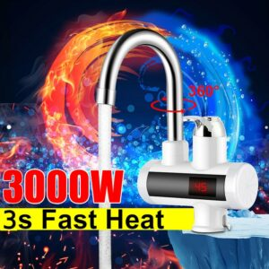 Electric Kitchen Water Heaters Tap 3000W Instant Hot Water Faucet LED Cold Heating Faucet Tankless Instantaneous Water Heater