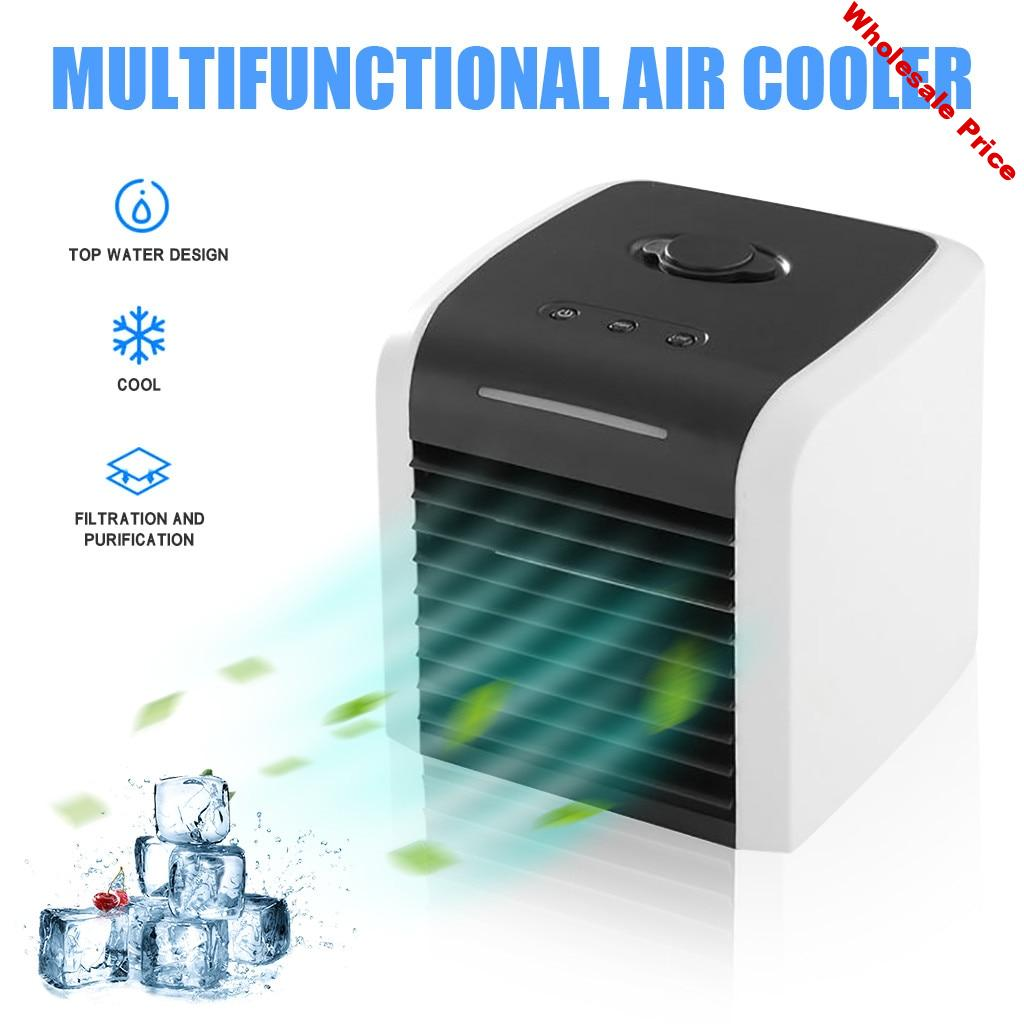 Mini Portable Air Conditioner Fan Humidifier Air Cooler Upgraded Mute Fans Usb Air Cooler Multifuntional Cooling Fans#gb40