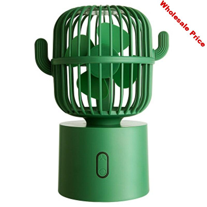 USB Fan Rechargeable Portable Table Cooler 3 Speed Silent Air Cooling Mini Fans For Home Car Notebook Laptop-Green
