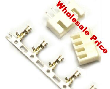 200pcs 4 Pin Connector leads Heade 2.54mm XH-4P Kit