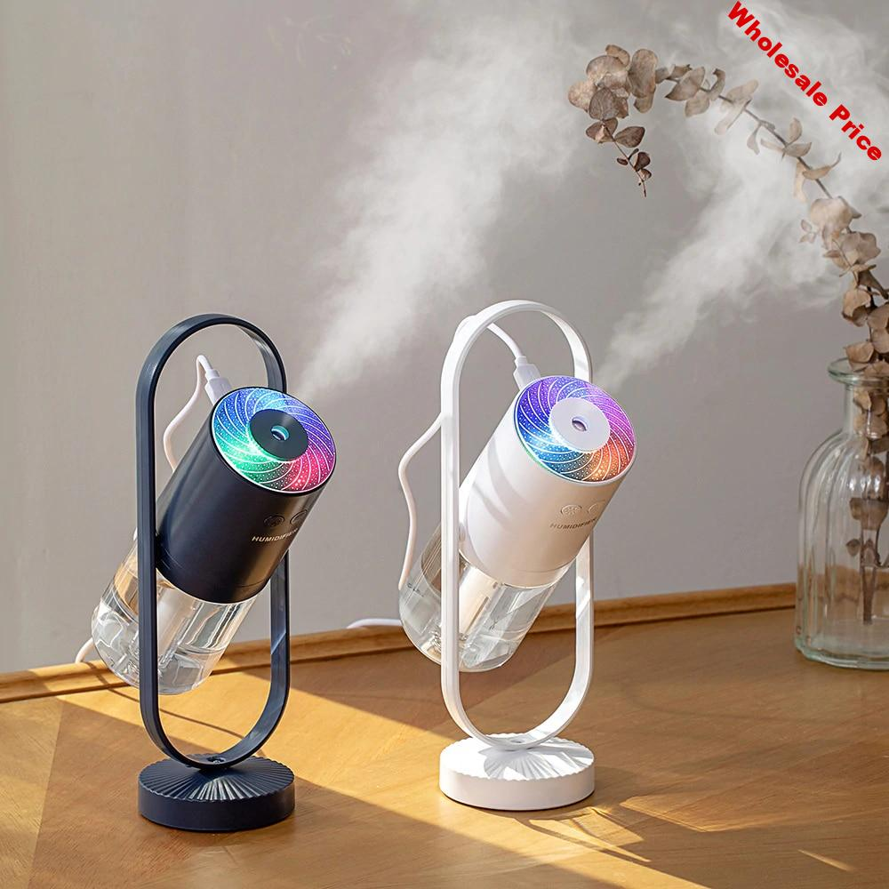 Air Humidifier 220ML Ultrasonic Humidifier Aroma Essential Oil Diffuser for Home Car USB Fogger Mist Maker with LED Night Lamp