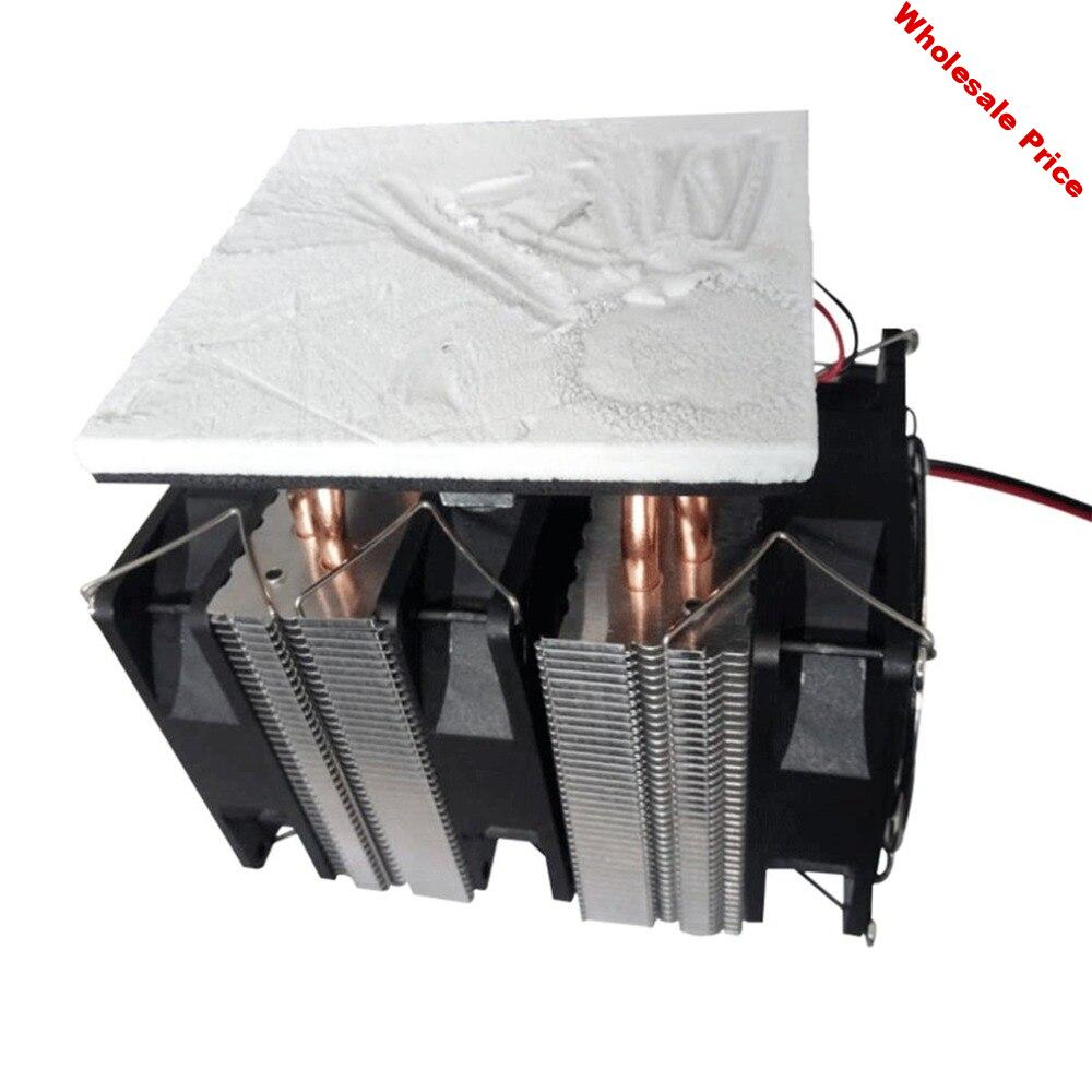 12V 240W Peltier Chip Semiconductor Cooling Plate Refrigerator Large Power Assisted Computer Cooling Plate Black ICOCO