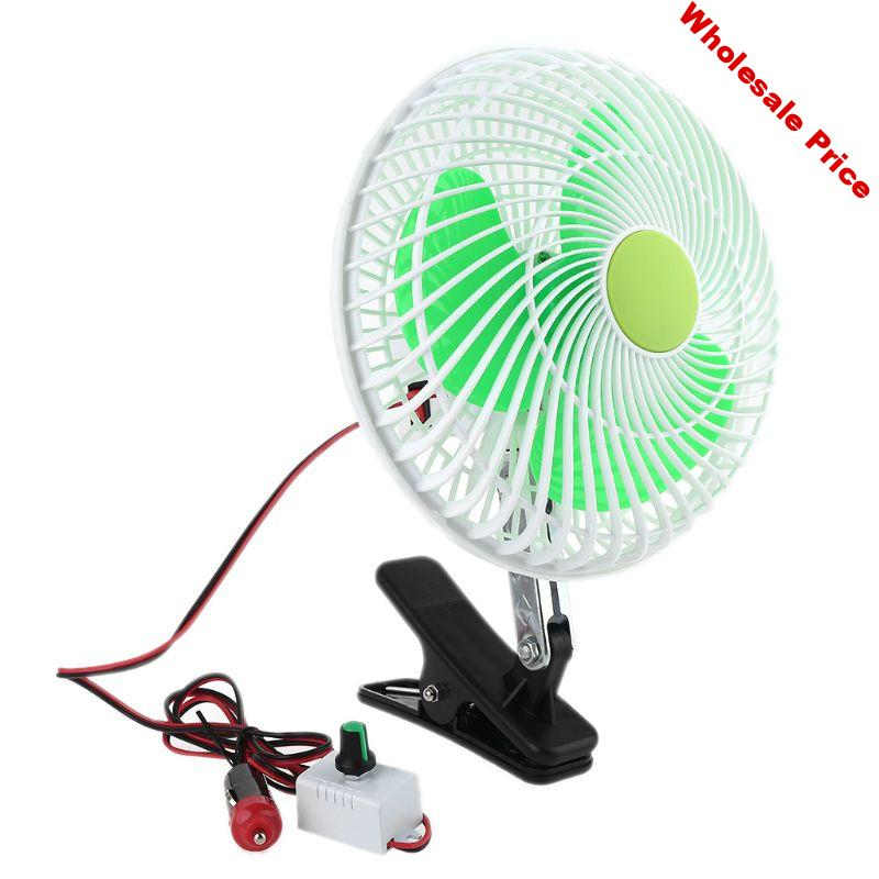 12V SUV Car Stepless Speed Air Cooling Fan Strong Wind Automobile Vehicle Oscillating Swing Clip Fan Car Vehicle Air Cooling