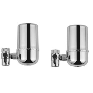 2Pcs Kitchen Tap Faucet Can Be Rotated 360 Degree Washable Ceramic Filter Water Filter Water Purifier Replacement Filter