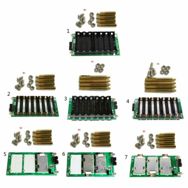 7S Power Wall Balancer PCB Module Power Bank Case 18650 29.4V Battery Holder 20A 40A 60A Battery Box Protection Board